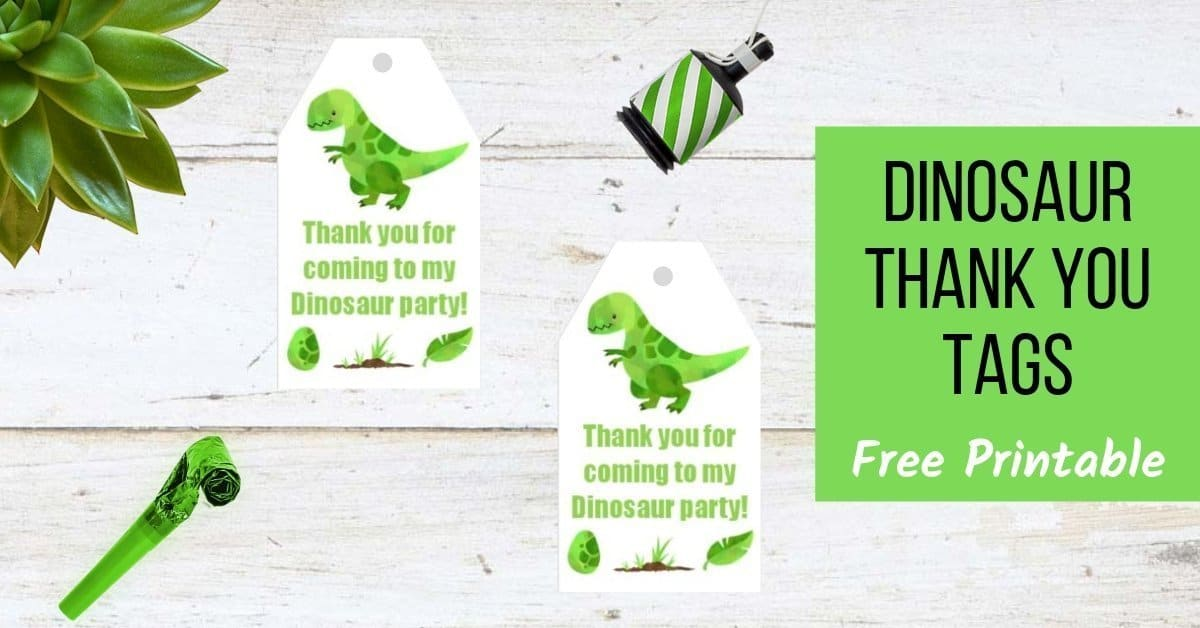 image relating to Free Printable Dinosaur known as Dinosaur Thank Your self Tags (Free of charge Printable) Functions Manufactured Unique