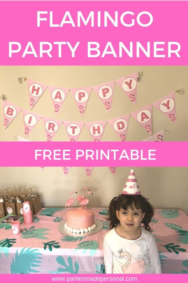 Free Flamingo Party Banner Bunting Sign - Free Printable Instant Download