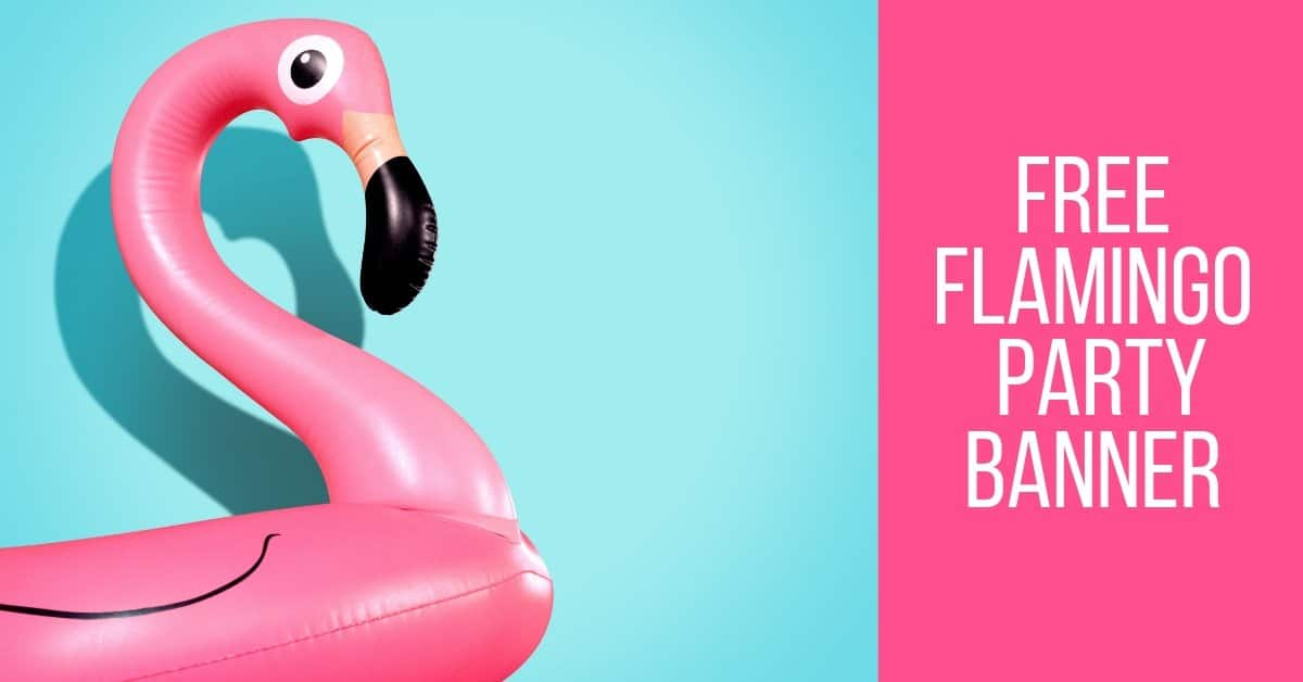 Free Flamingo Party Banner Sign