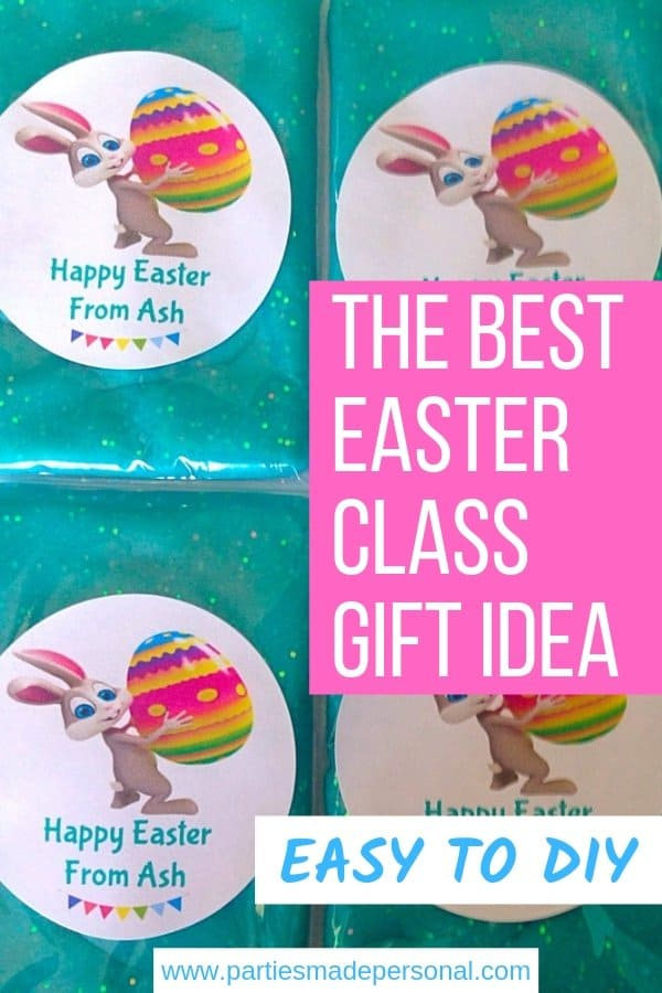 Easter Class Gift Idea glitter play dough packs with stickers
