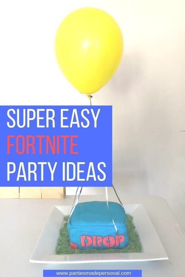 Fortnite Birthday Party Supply Drop Cake