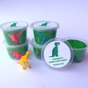 Dinosaur Play Dough Party Favours