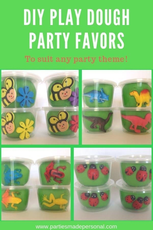 Playdough party favors for any party theme to DIY