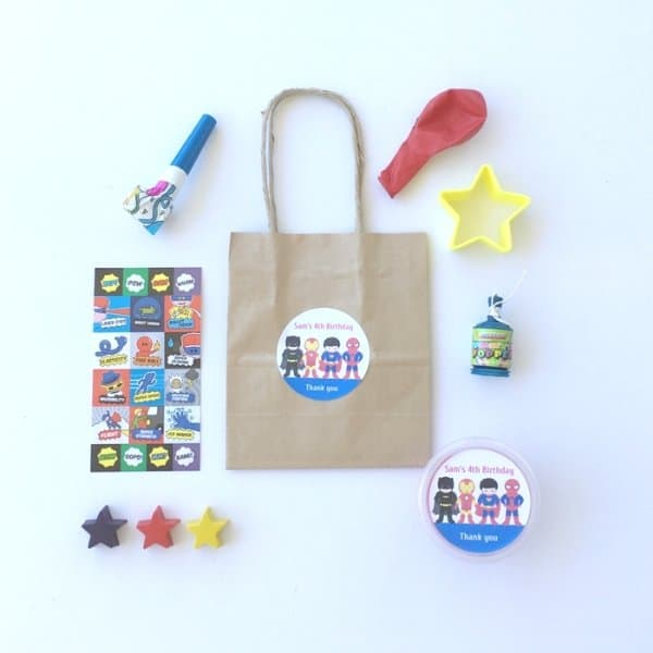 DIY Superhero Party Bag for boys