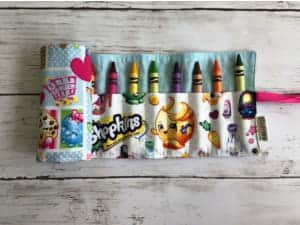 Shopkins Crayon Roll Party Favors