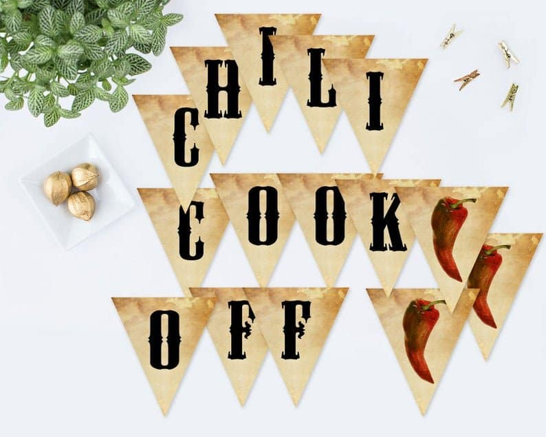 Chili Cook Off Party Banner Decorations