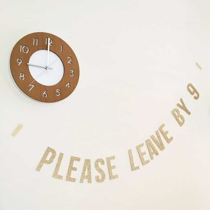 Introvert Party Decoration - Please Leave By 9 Banner