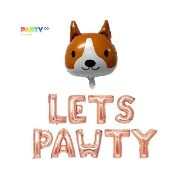 Pet Party Decorations Lets Pawty Balloons