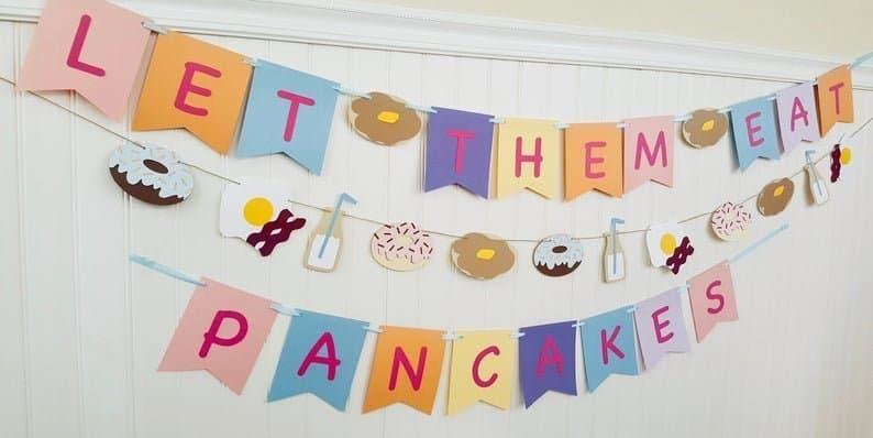 Pancakes Breakfast Party Banner
