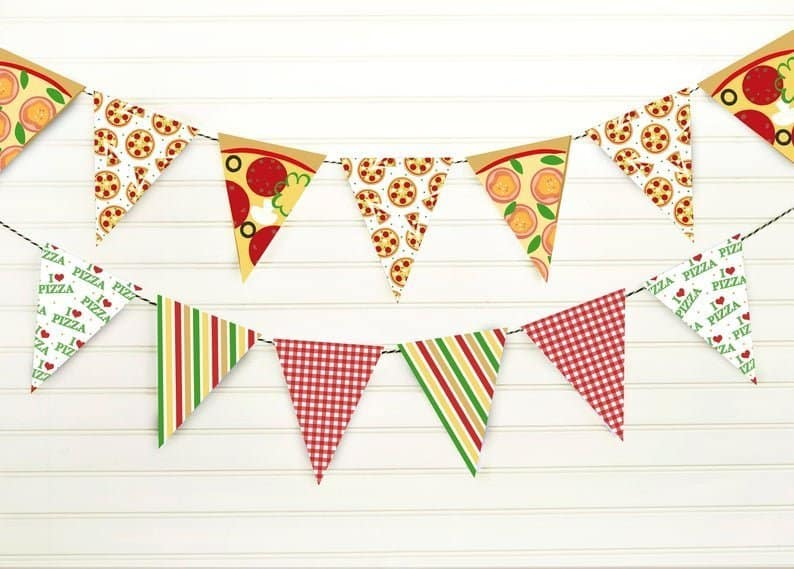 Pizza Party Banner Party Printable