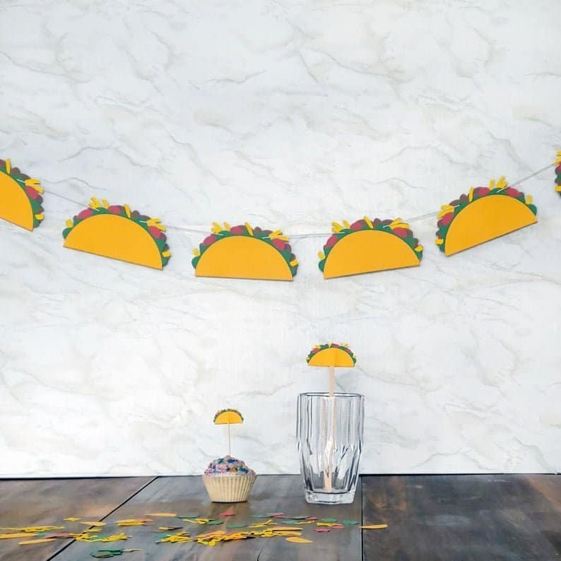Taco Party Banner Bunting