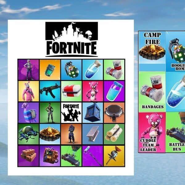 Fortnite Bingo Printable Party Game