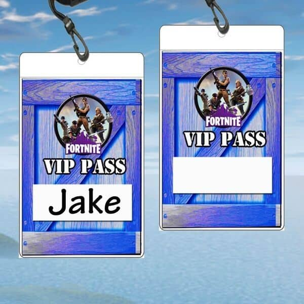Fortnite VIP Pass Gamer Party Printable
