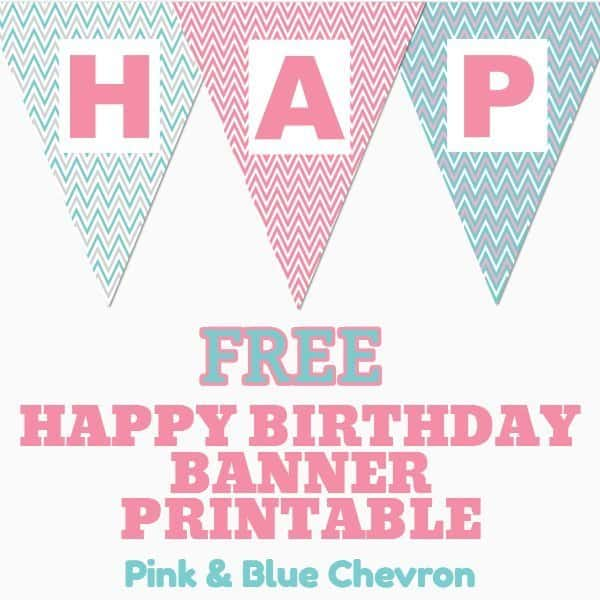 Printable Birthday Signs Banner