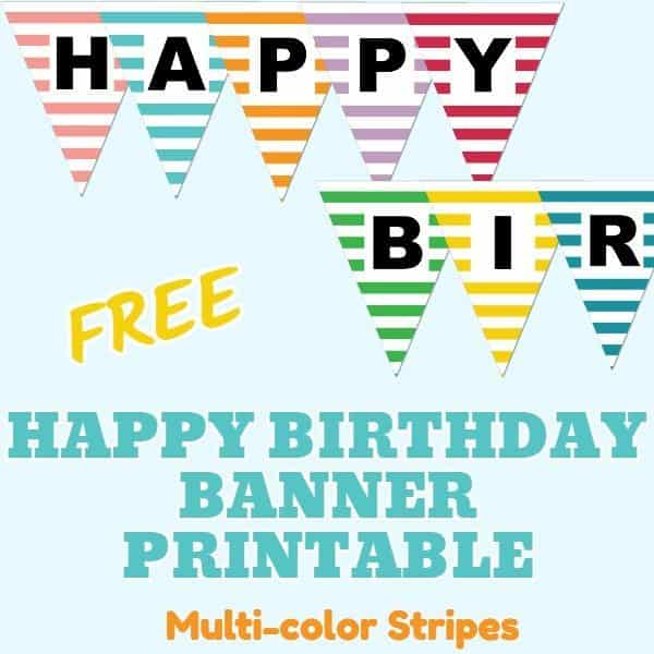 Birthday Banner Ideas Free Printable