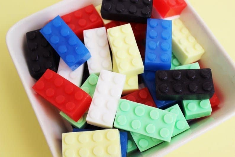 Lego soap lego blocks party favors