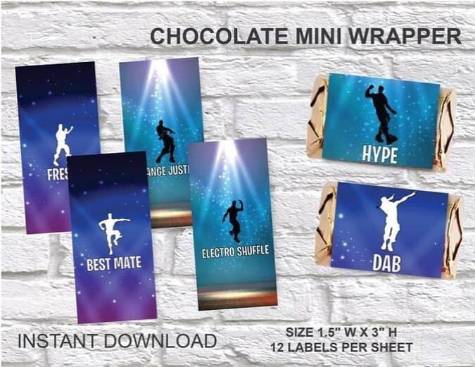 Emote Chocolate Bar Wrappers Printable Favors