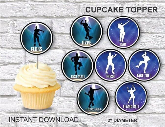 Emote Cupcake toppers printable