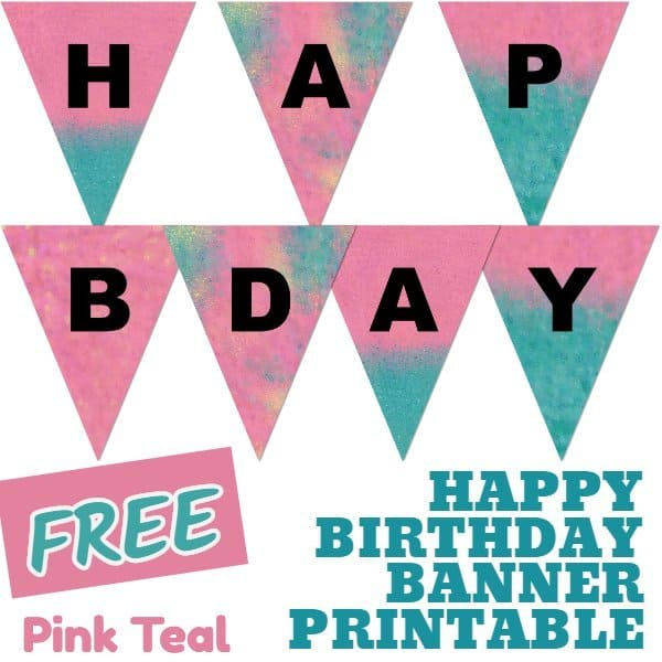 graphic relating to Free Birthday Banner Printable known as Totally free Satisfied Birthday Banner Printable (16 One of a kind Banners For
