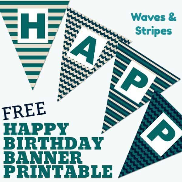 Happy Birthday Banner printable boy