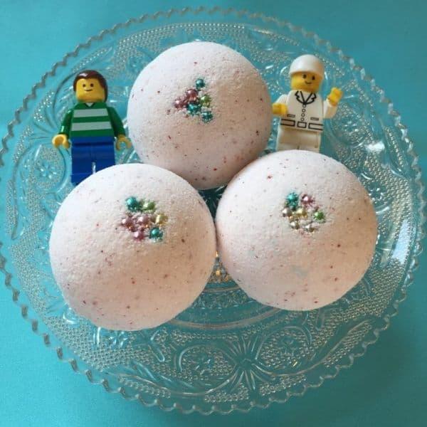 Lego Bath bombs party favors
