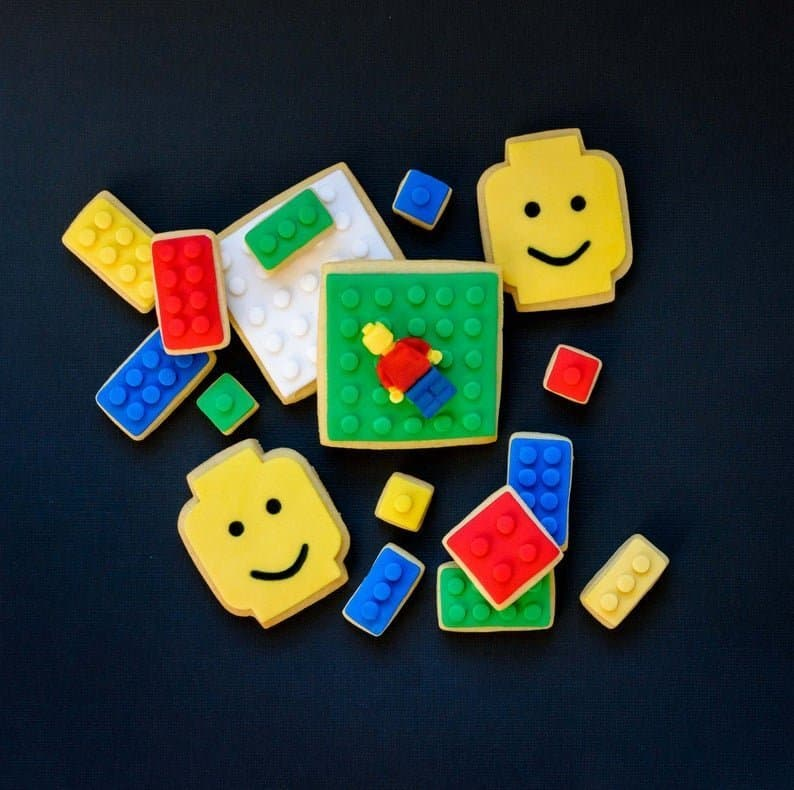 Lego Cookies Party Favors