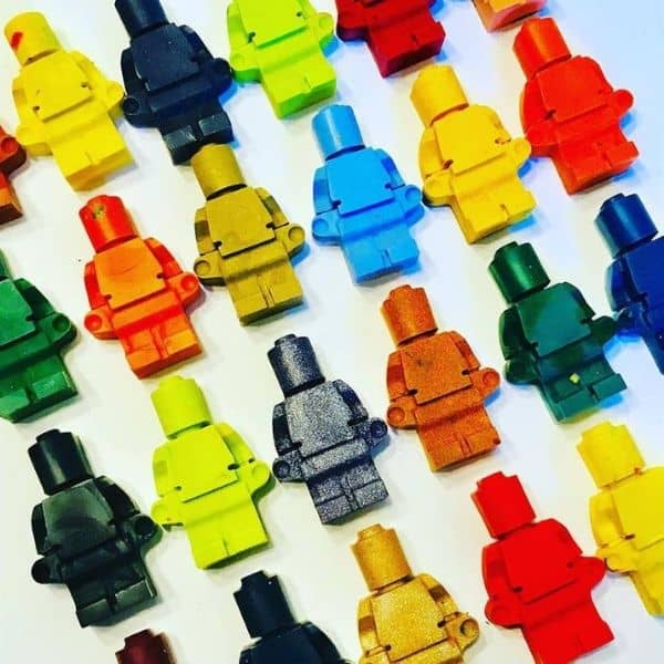 Lego People Crayons - Lego party favors
