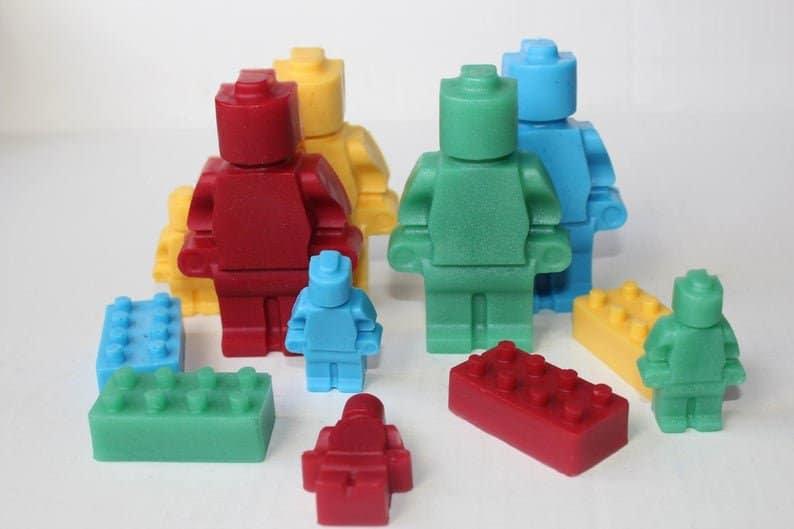 Lego soap minifigures party favors