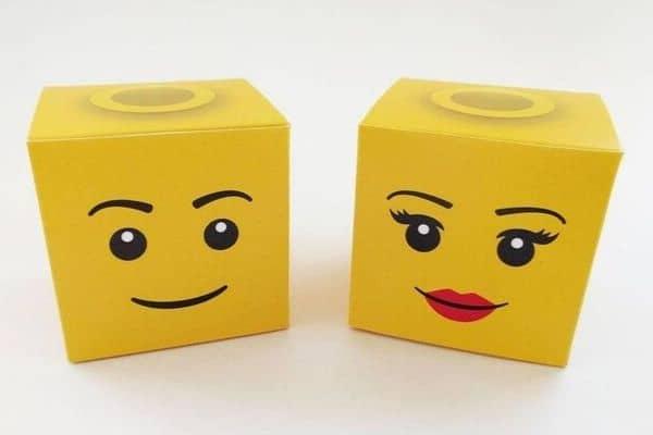 Lego Party Boxes | Lego Minifigure Head Boxes for Lego party theme