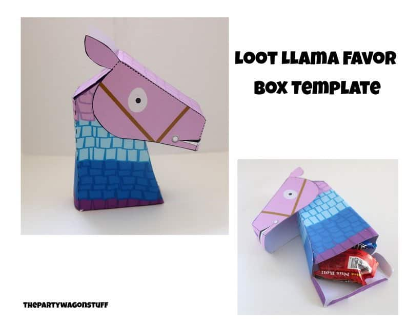 Loot Llama favor box printable