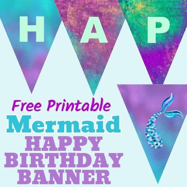 Mermaid Banner - Blue