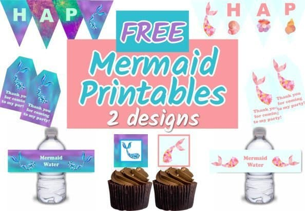 Mermaid Printables Free Party Printables Parties Made Personal