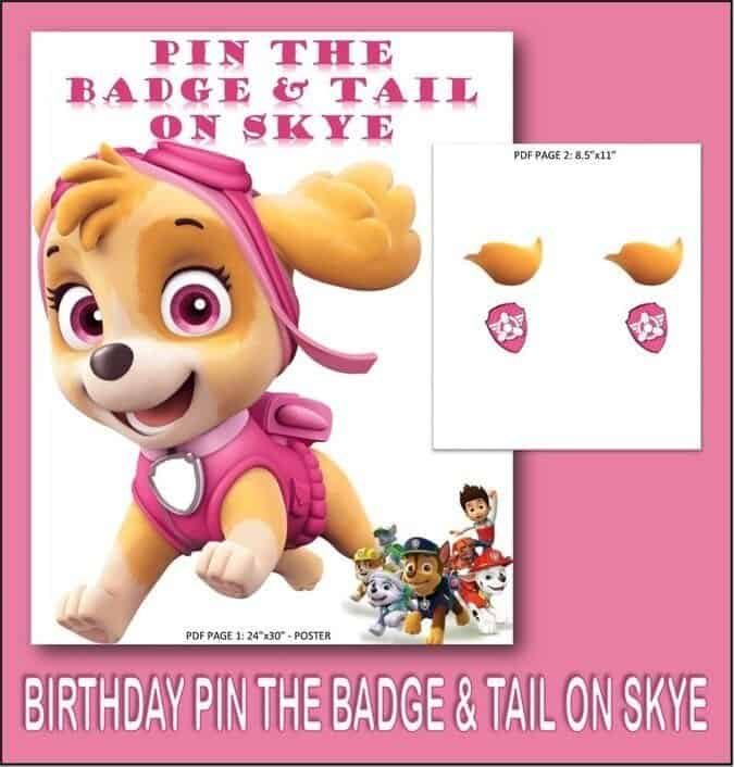 Pin the Badge on Skye Printable Paw Patrol Game