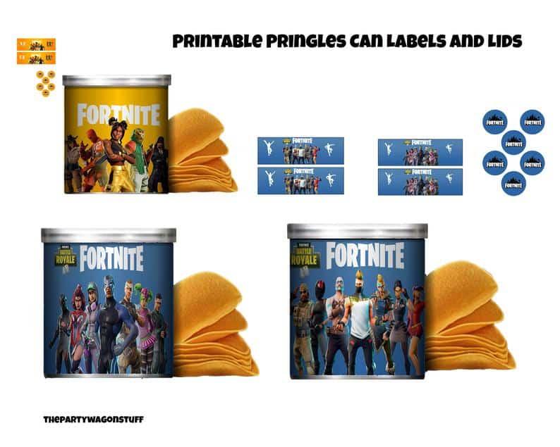 Gamer Pringles Printable Labels