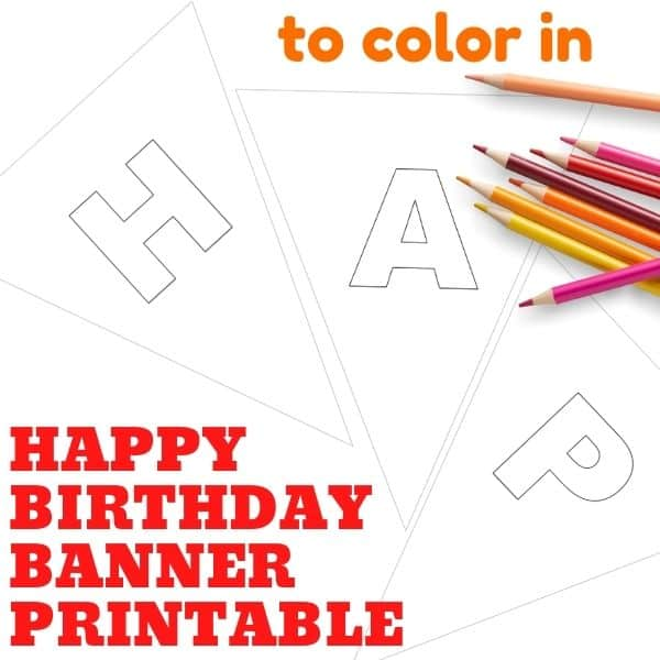 printable happy birthday banner to color