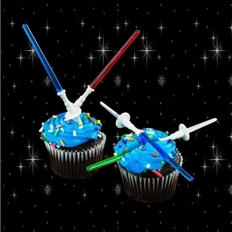 Star Wars Cupcake Toppers - Light Sabers