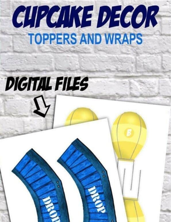Supply Drop Cupcake Toppers Printable