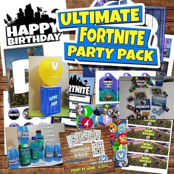 Fortnite party decorations set