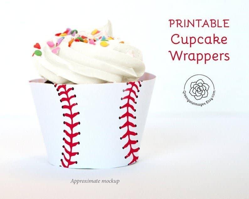 Baseball Cupcake Wrappers