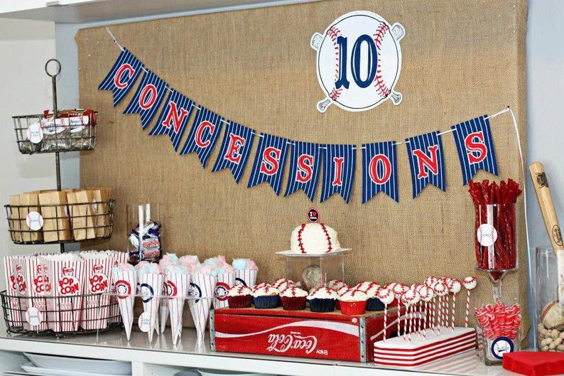 Baseball Party Decorations Printables Set