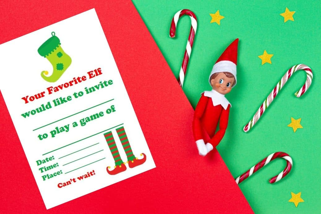 Elf on the Shelf printable props - invitation to play