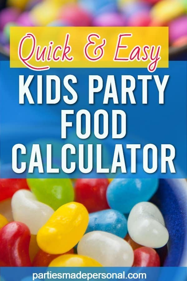 party planning food calculator for kids