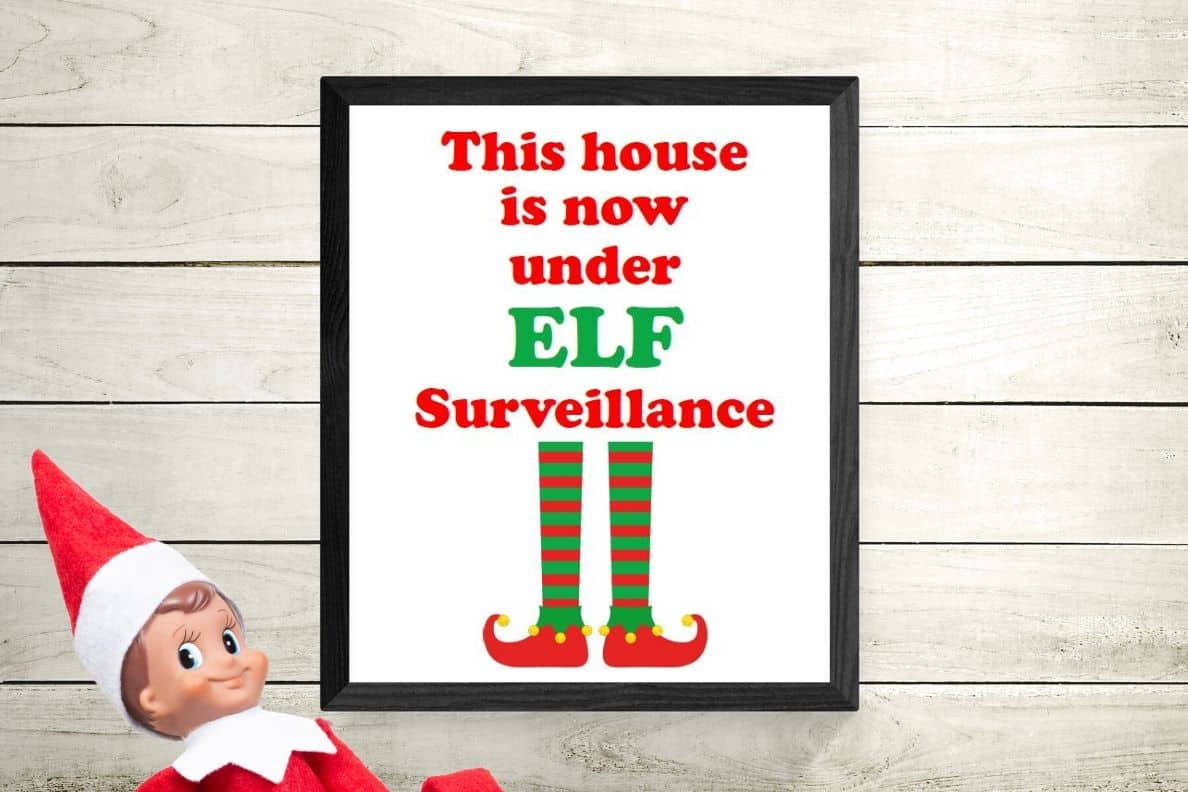Elf on the Shelf Signs