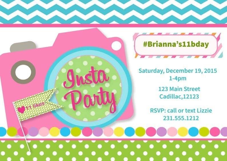 Instagram Party Invitation