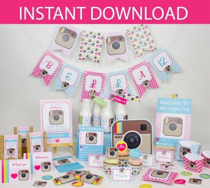 Instagram Party Decorations Printables