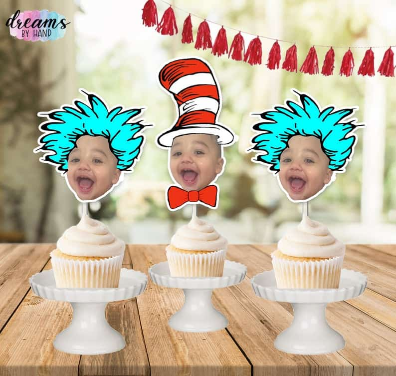 Dr Seuss Cake Toppers