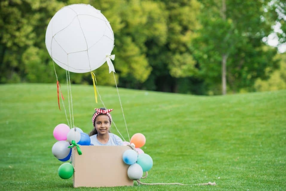 Hot air balloon party theme