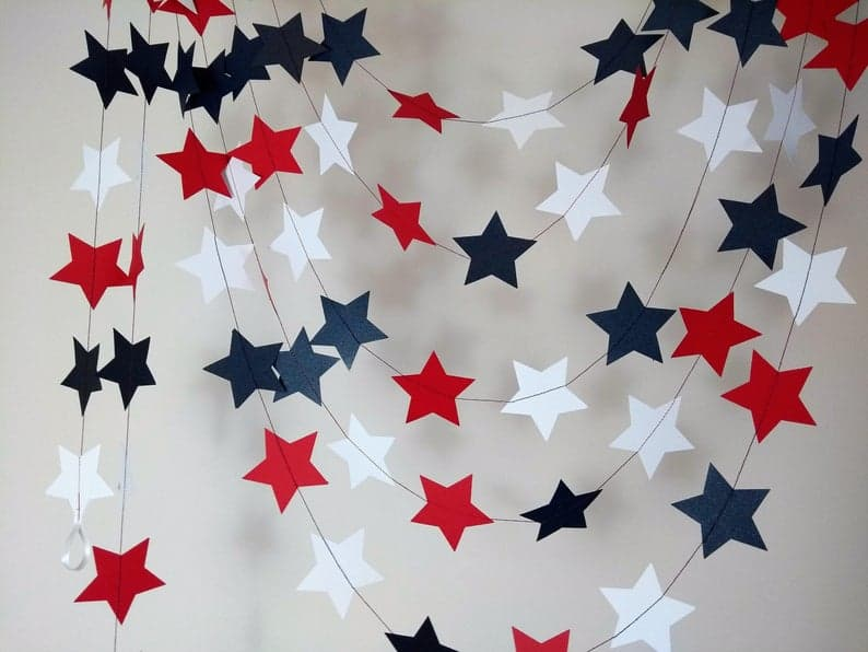4th of July party garland decorations
