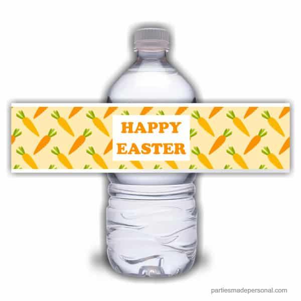 Orange Easter Water Bottle Labels