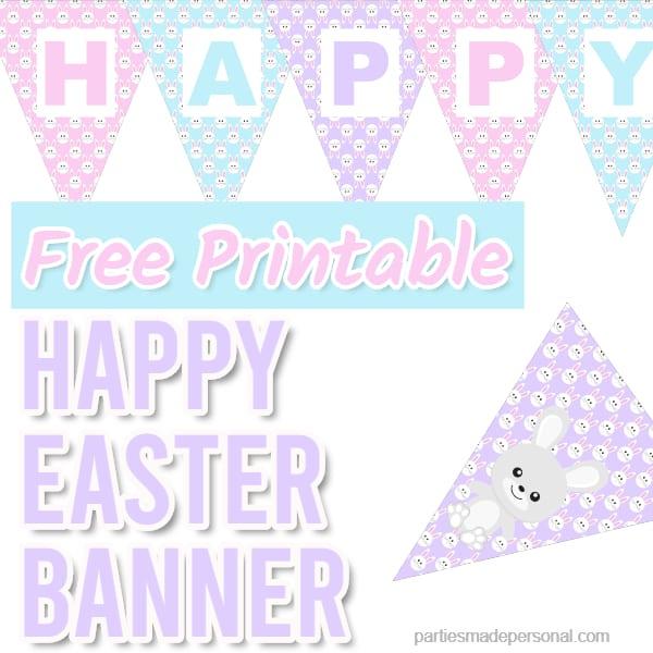 Easter Banner Printable Free